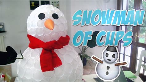 diy snowman  cups christmas ornaments  decorations
