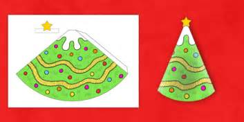 cone template twinkl christmas tree cone model christmas tree cone model