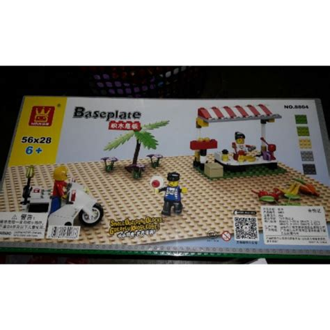 Base Plate 56 X 28 8804 lego sembo blocks ministreet base plate 56x28 shopee