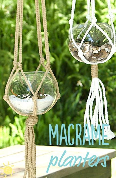 diy  minute macrame planters macrame planter diy