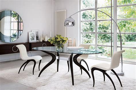 dashing duo trendy  dining tables usher  geometric contrast