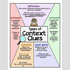 Context Clues Posters By Julia Lee  Teachers Pay Teachers