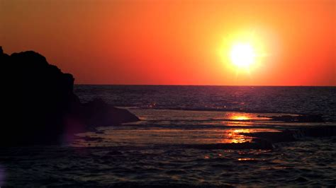 royalty  stock video footage panorama  sunset  dor