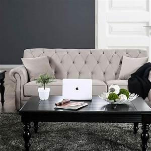 Furniture, Of, America, Tamika, Transitional, Tufted, Sofa, With
