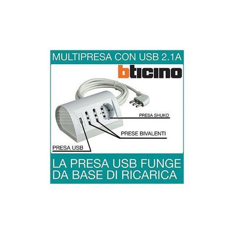 Multipresa Scrivania by Multipresa Elettrica Ciabatta Bticino Da Scrivania Con Usb