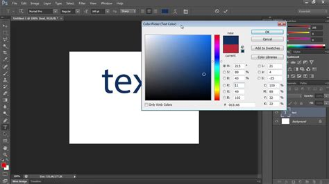 how to change a color in photoshop how to change text color in photoshop cs6