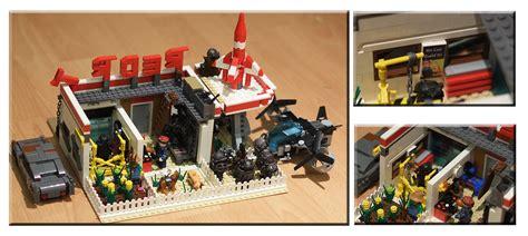 lego fallout modular red rocket station settlement flickr