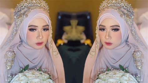 gaya makeup  pengantin hijab bisa jadi inspirasi