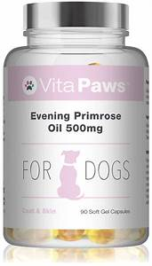 Evening Primrose Oil 500mg For Dogs By Vitapaws U2122 90 Soft Gel Capsules 5056049510067