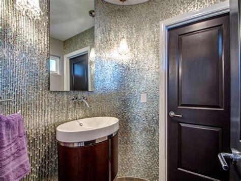 metallic tiles for bathroom metallic bathroom photos hgtv