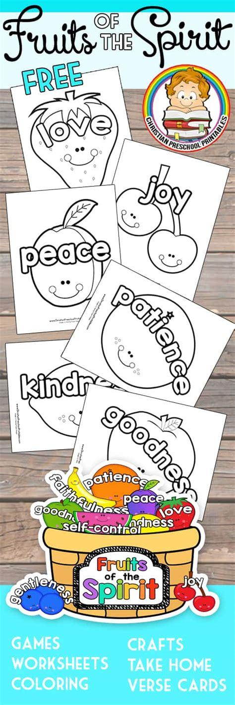 fruit   spirit printables christian preschool printables