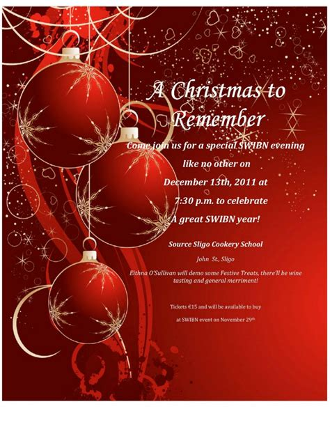 templates for christmas invitations
