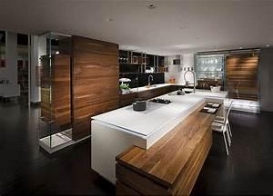With plan de travail exterieur bois 11 cuisine mobalpa en bois avec ilot e5