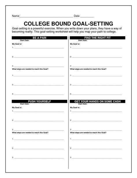 18 Best Images Of Goal Tracking Worksheet  Goal Setting Worksheet, Personal Goal Setting