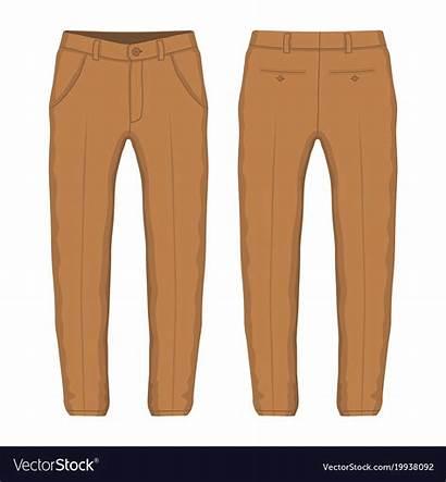 Trousers Vector Mens Brown Vectorstock Royalty Vectors