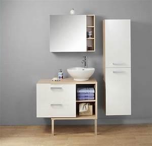 meuble salle de bain blanc design chambre salle de bain With meuble salle de bain conforama blanc