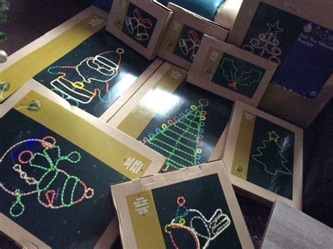 xmas lights b and q indoor outdoor lights all boxed b q santa snowman jingle bell robin trees in