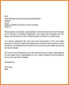 Professional Thank You Letter to Boss