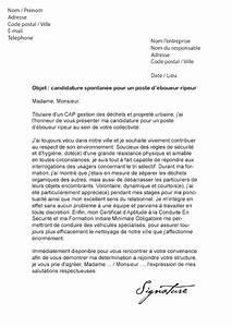 Modèle Changement D Adresse : lettre de motivation boueur ripeur mod le de lettre ~ Gottalentnigeria.com Avis de Voitures