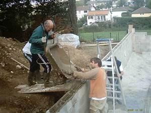 le banchage des blocs de la piscine With construire sa piscine parpaings