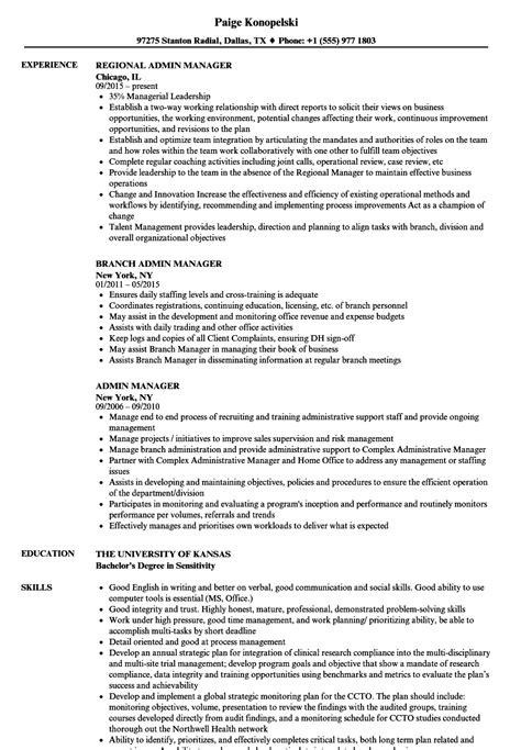 admin manager resume sles velvet