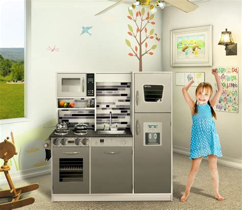 Wooden play kitchen set / Kids toy kitchen   Naomi Home