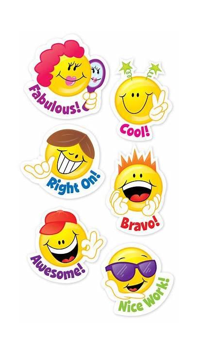 Stickers Reward Smiley Face Faces Praise Cool
