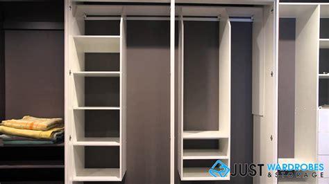 jws hinge door suspended melamine wardrobe system