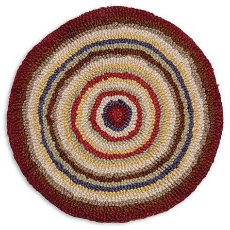 hand hooked wool penny chairpad theholidaybarn com