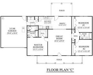 ranch floor plans with split bedrooms houseplans biz house plan 1500 c the c