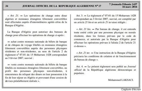 bureau de change dinar algerien 28 images couverture