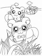Hamtaro Criceti Fiume Mewarnai Hamsters Stampare Fresco Malbögen 4kids Votos sketch template