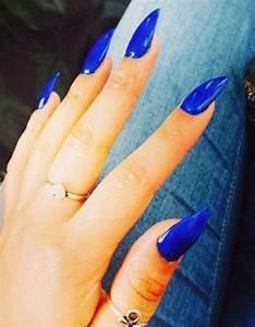 Blue stiletto nails! | Nails | Pinterest