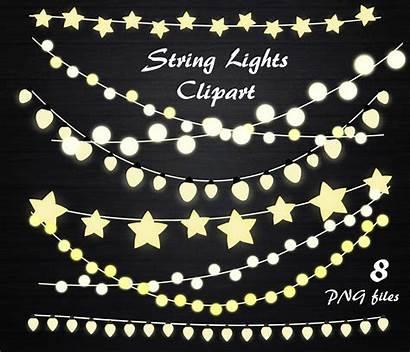 Lights Clipart Fairy String Clip Invitation Hanging