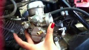 Remove Carb From Ozark  Suzuki 250