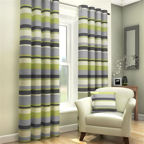 striped eyelet lined curtains green tony s