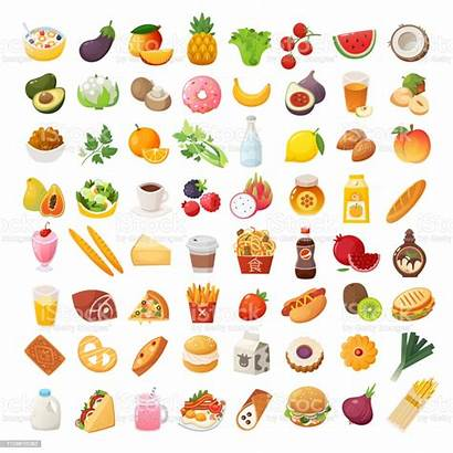 Ingredients Dishes Icons Illustration Belarus Vector Burger