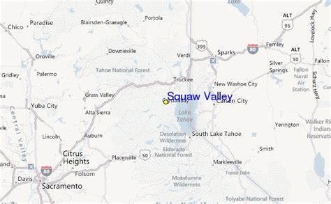 squaw valley ski resort guide location map squaw valley