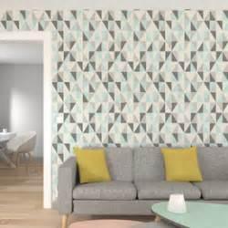 Papier Peint Couloir 4 Murs by Intiss 233 Triangle Wood Coloris Multicolore 233 Cru Papier
