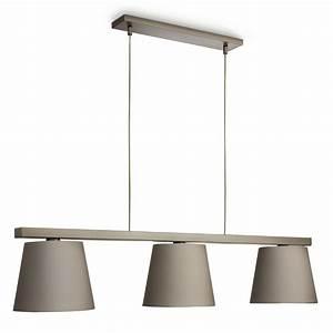 Luminaire 3 Suspensions : luminaire suspension avec abat jour ~ Teatrodelosmanantiales.com Idées de Décoration