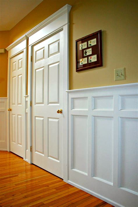 wall wood paneling wainscoting installation by deacon home enhancement