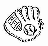 Baseball Glove Clip Mitt Clipart Ball Gloves Softball Cartoon Outline Cliparts Line Animated Kid Clipartmonk Lines Library Views Clipartbarn Link sketch template