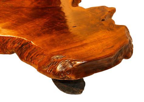 mid century  edge wood tree slab coffee table