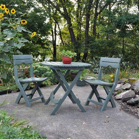 manufacturing quik fold 3 patio cafe set
