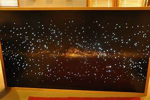 Night Light Wall Clock Fiber Optic Star Map Wall Planetarium