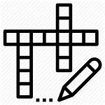 Crossword Puzzle Clipart Icon Word Christian Svg