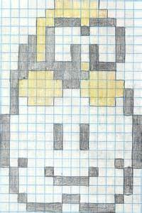 Pixel Art On Graph Paper