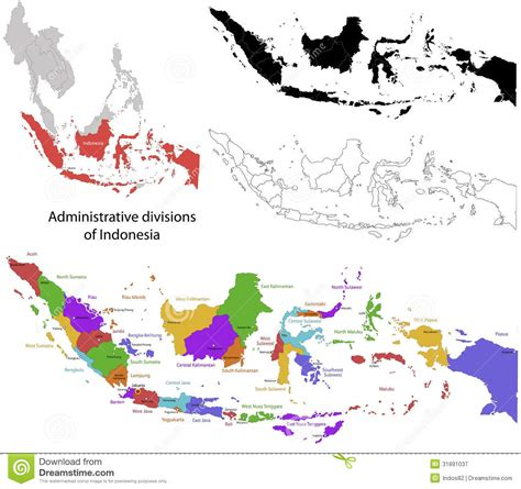 indonesia map stock vector illustration  geography