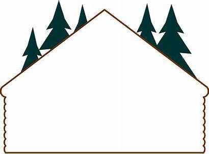 Cabin Log Clipart Border Transparent Frame Rustic