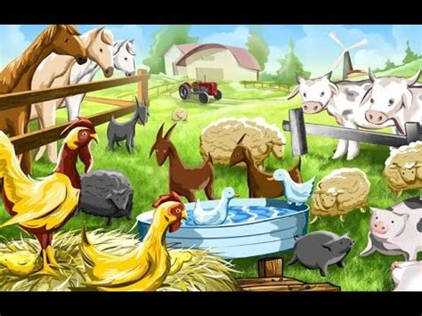 The Farm House Of Pet Animals  Animal Song For Kids